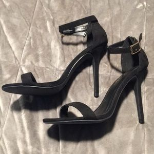 Black Single Strap Heels (Never Worn)